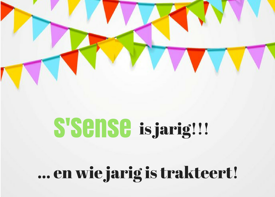 S'Sense is jarig en trakteert!